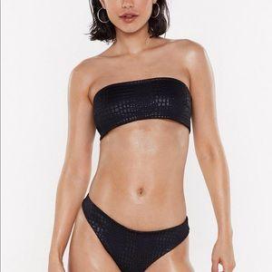 NastyGal Black Bikini Set